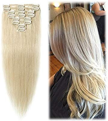 Amazon Com 24 Inch 85g Clip In Hair Extensions 100 Remy Human