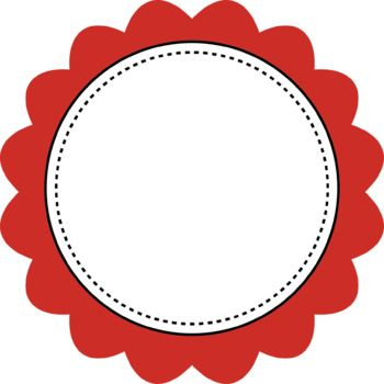 Scalloped Colored Round Frames Clip Art For Personal And Commercial Use Frame Clipart Scrapbook Frames Flower Stationary