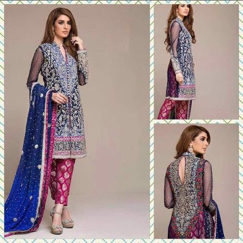 fda1d0f9bf Royal blue and cherry pink dress Indian/pakistani by IrmaDesign | South  Asian outfits & Details. . in 2019 | Pinterest | Tenue indienne, Tenue  hindou and ...