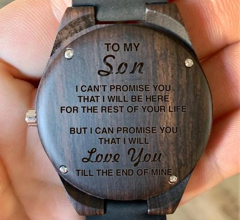 To My Son I'll Love You Til the End of Time Engraved | Etsy