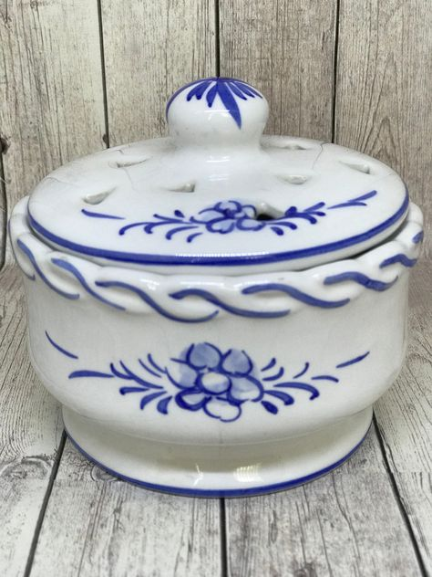 Hand-painted Decorative Traditional Portuguese Ceramic Sugar Bowl #176