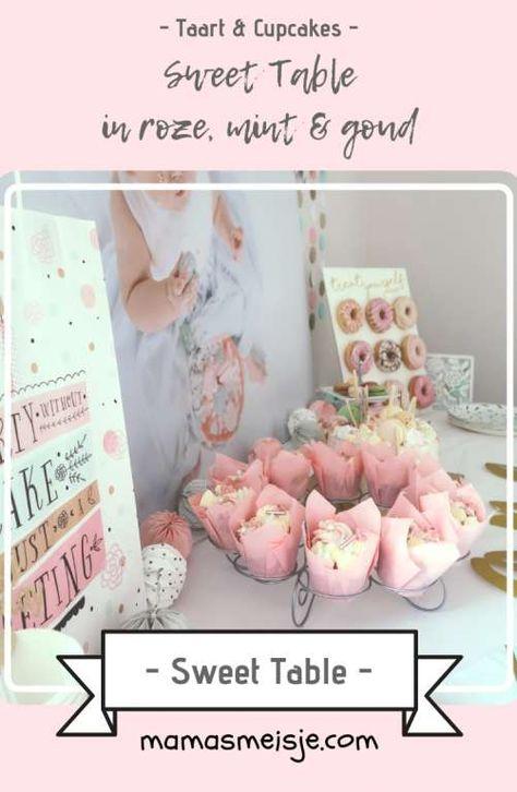 Hedendaags Sweet Table (met afbeeldingen)   Verjaardag, Roze gouden feest, 1e EK-98