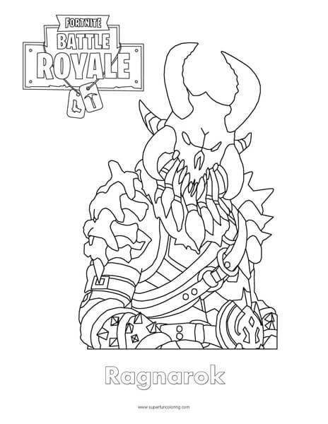 Fortnite Ragnarok Coloring Page