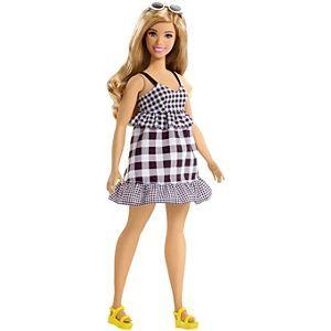 LOOK DRESS ~ BARBIE DOLL NIGHTTIME GLAMOUR CURVY METALLIC PRINT GOWN CLOTHING