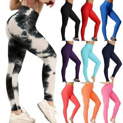 New Womens Ladies Tie Dye Side Panel Full Length Leggings Trousers Size S M L XL