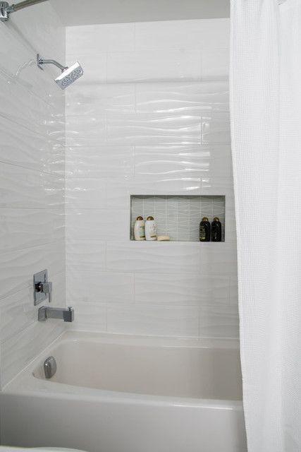 blanco waves ceramic wall tile 8 x 24