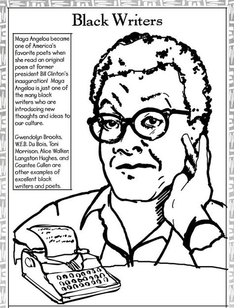 Coloring Page Maya Angelou. Black History Month Coloring Pages  Maya Angelou maya angelou coloring page Page Cartoon