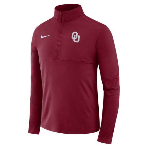 13d428b492be Nike College Therma (Oklahoma) Men s Long-Sleeve 1 2-Zip Top Size XL  (Varsity Crimson)