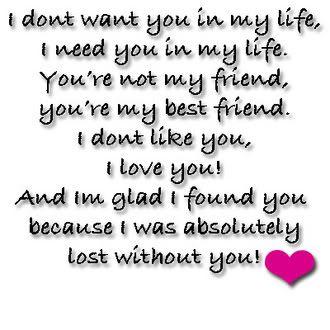 i like you my love