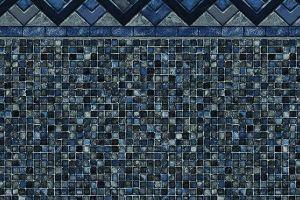 Cobalt Lake Grey Mosaic 27 Mil Mosaic Pool Swimming Pool Builder Pool Builders
