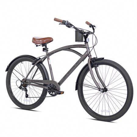 Kent 26 Inch Men S Bayside Bicycle Satin Cocoa For Height Sizes 5 2 Inch And Up Brown Coolbikeacces In 2020 Beach Cruiser Bicycle Cruiser Bicycle Commuter Bicycle