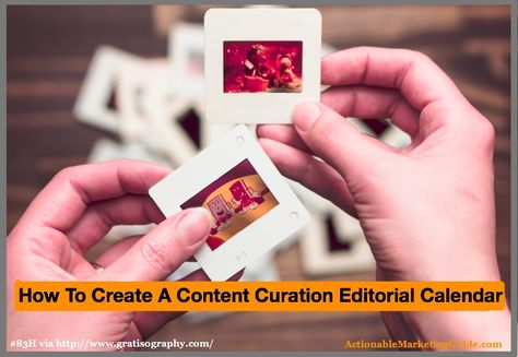 Don't miss content curation opportunities! Create your content curation editorial calendar with these 5 steps. Contains easy-to-use worksheets and tips.
