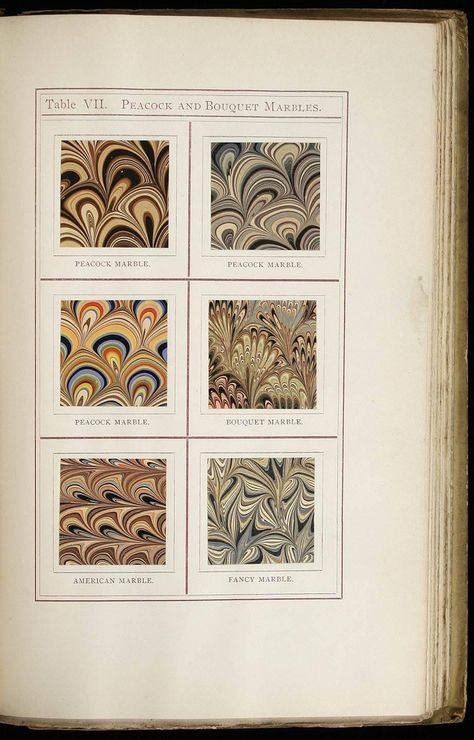 Hand Marbled Paper 48x67cm 19x26in Book Binding Restoration Series