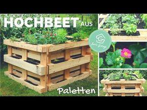 Hochbeet Aus Europaletten Selber Bauen Bauanleitung Beet Aus Paletten Palettenmobel Youtube Pallet Garden Pallets Garden Raised Garden Bed Plans