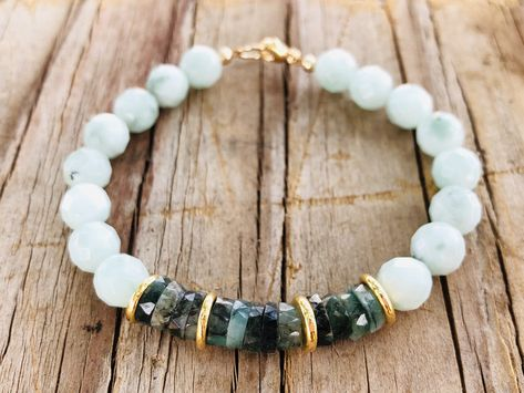 Coil Cuff Blue Bracelet Tribal Bangle Recycled Glass Cuff African Bead Bangle Modern Bracelet AFRIKA Memorywire Bracelet