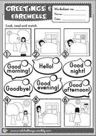 Resultado De Imagen Para Simple Greetings For Kids Atividades Em