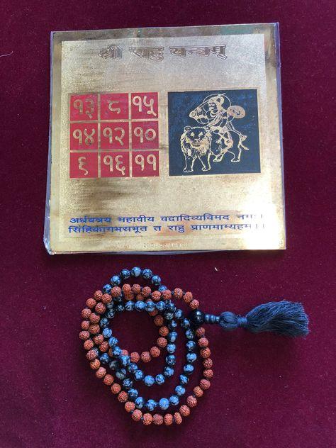 Spiritual Sampurna Dash Mahavidya Safaldayi Yantram 10 DEVI ALTAR Black White Jasper Beads Gemstone Rudraksha Mala Fulfilment of Desire