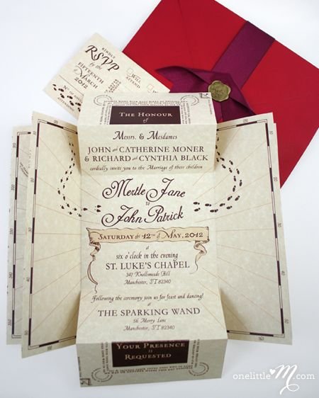 8 best cards etc images on pinterest harry potter parties wedding stuff and cards - Harry Potter Wedding Invitations