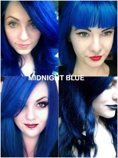 Coloring Hair Balsam Midnight Blue Hair Color Gothic