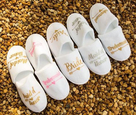 Personalized bridal slippers, bridesmaid slippers,hen party slippers, spa day slippers, bridemaid gi