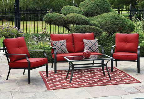 Hometrends Montclair 4 Piece Conversation Set Walmart Canada