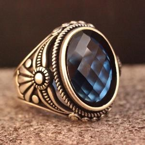 Ottoman Style Ring Agate Ottoman Style Ring Silver 925 Men/'s Ring Silver Ring Gift for Him Sterling Silver 925 Agate Handmade Ring