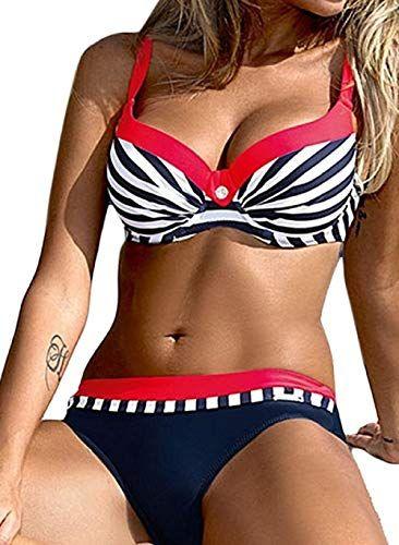 UMIPUBO Bikini Set Deux Pi/èces Bikini Push Up Maillots De Bain Candy Couleurs Natation Costumes Rayures Beachwear Swimwear Plage Femme
