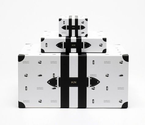 Limited-edition packaging design for Harvey Nichols designed by Construct.