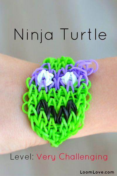 How to Make a Teenage Ninja Turtle Rainbow Loom Bracelet