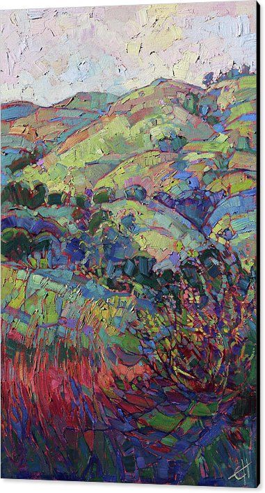 Wine Country Hills Canvas Print / Canvas Art by Erin Hanson