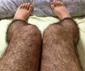 """Hairy Leg Stockings- this is so horrible! LOL.. the ad says """"discourage any potential creeper..."""" Yep!"""