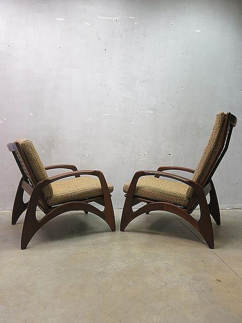 Stoelen Van Gelderland.Mid Century Design Armchairs Vintage Design Lounge Stoelen