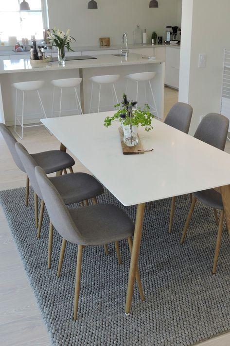 Spisegruppe 1 bord + 6 stoler,sortbøk | AJ Produkter