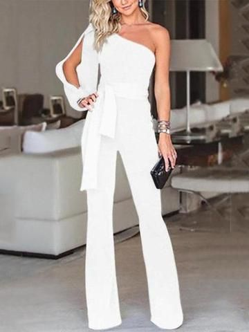 White One Piece Pantsuit