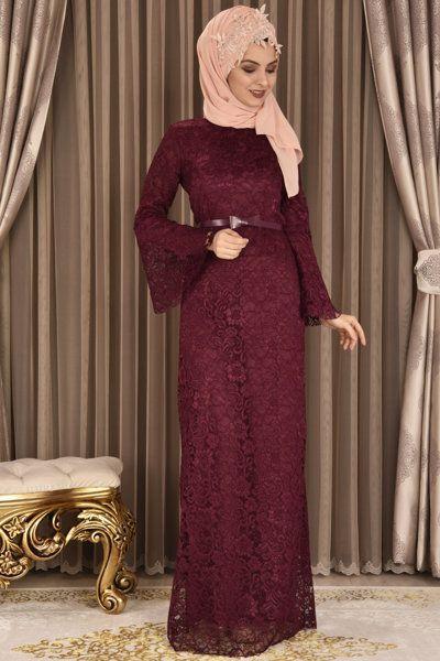Modamerve Tesettur Volan Kol Abiye Elbise Modelleri Moda Stilleri Elbise Modelleri Elbise