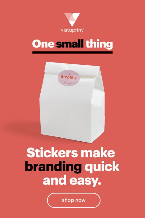 Stick your logo on your packaging