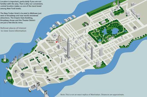 Newyorkerhotelmapjpg Carte Isometric City Map - New yorker map of the us