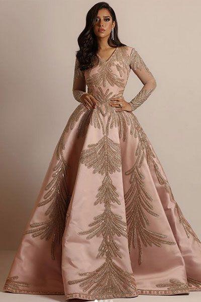 صور فساتين خطوبة منفوشة من وحي نجمات الفن 2020 In 2020 Dresses Evening Dresses Long Elegant Dress