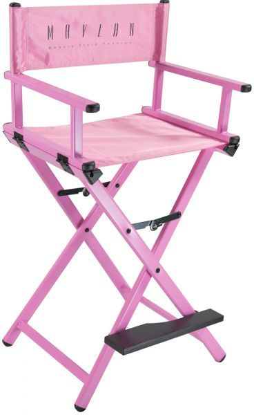 Pink Directors Chair High Tall Chair Painted Pink Wood And With