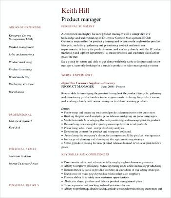 Software Product Manager Resume Product Manager Resume Template We Have A Vital Information About Produc Manager Resume Resume Template Free Resume Samples