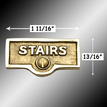 Spec Pre Switch Plate Tags Stairs Name Signs Labels Lacquered Brass Pre Switch Plates Name Signs Switch