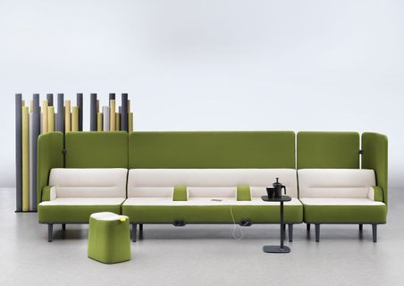 This High Performing Acoustic Couch Design Can Be Configured As Dedicated Personal Or Huddle Areas In Any Open Plan In 2020 Couch Design Furniture Lounge Seating Area
