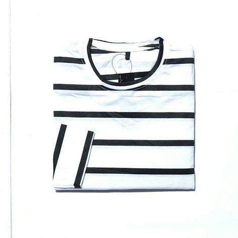fashionistas Longsleeve tee stripe Lengan...