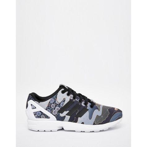 53d428aae5388 adidas Originals Rita Ora Elegant Print ZX Flux Sneakers featuring  polyvore