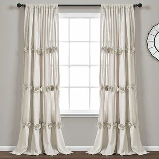 Lush Decor Darla Window Curtain Single Panel 84 X 40 White 84 Inches Plastic Floral In 2020 Curtains Cool Curtains Curtain Styles