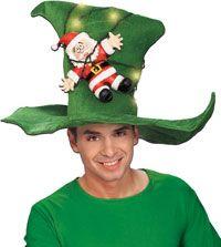 Santa's Strung Out Hat - Christmas Hats