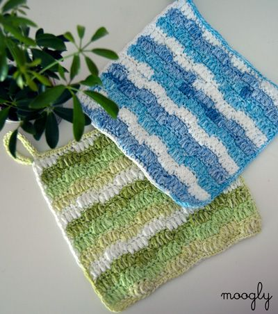 Ripple Puff Cleaning Cloth ~ free pattern ᛡ