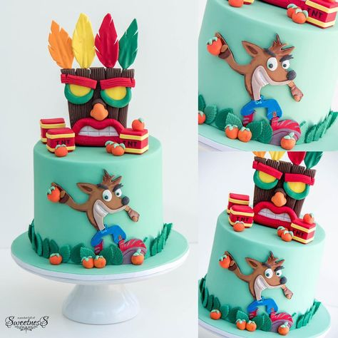 "❤️💖Loan💖❤️ on Instagram: ""Crash Bandicoot birthday cake #apocketfullofsweetness #birthdaycake"""