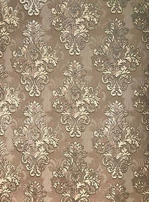 Vintage Retro Style Paper Wallpaper Grey Wall Coverings Roll Textured Damask 3d Asian Paints Wall Designs Paper Wallpaper Damask Wall Stencils