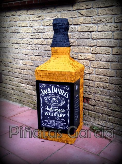 Jack Daniels Bottle Pinata                                                                                                                                                                                 More #SomeChristmasDecorations